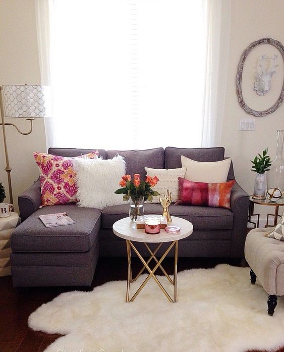 small mauve living room