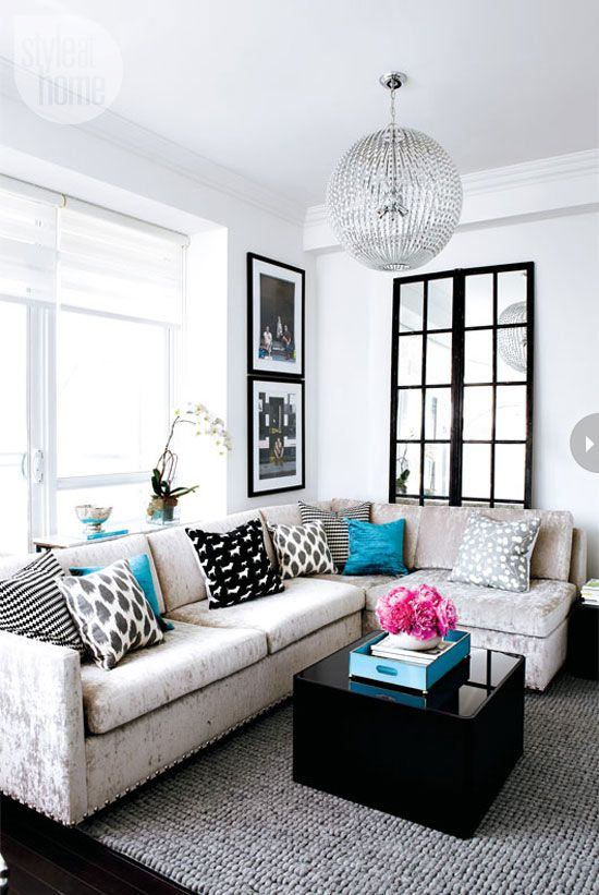 small trendy living room