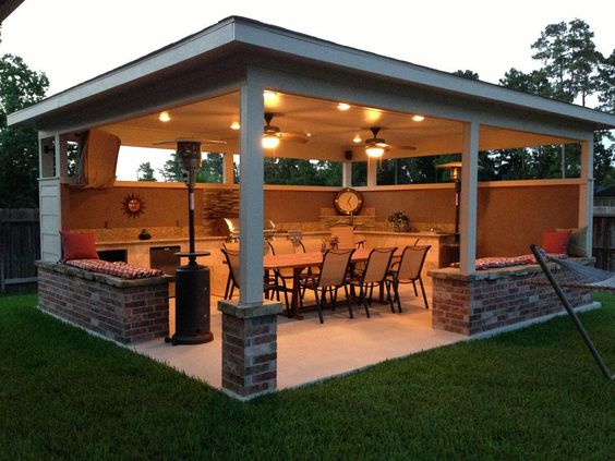 backyard kitchen pavilion