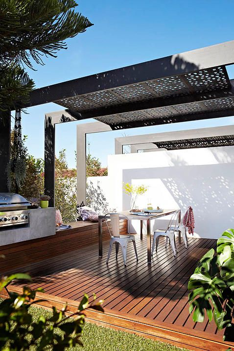 elegant outdoor kitchen