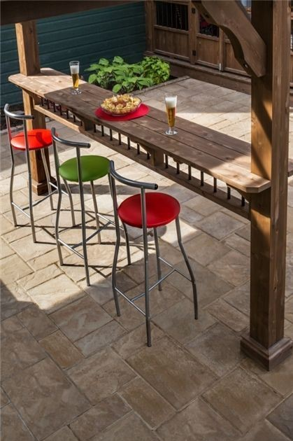outdoor kitchen stools