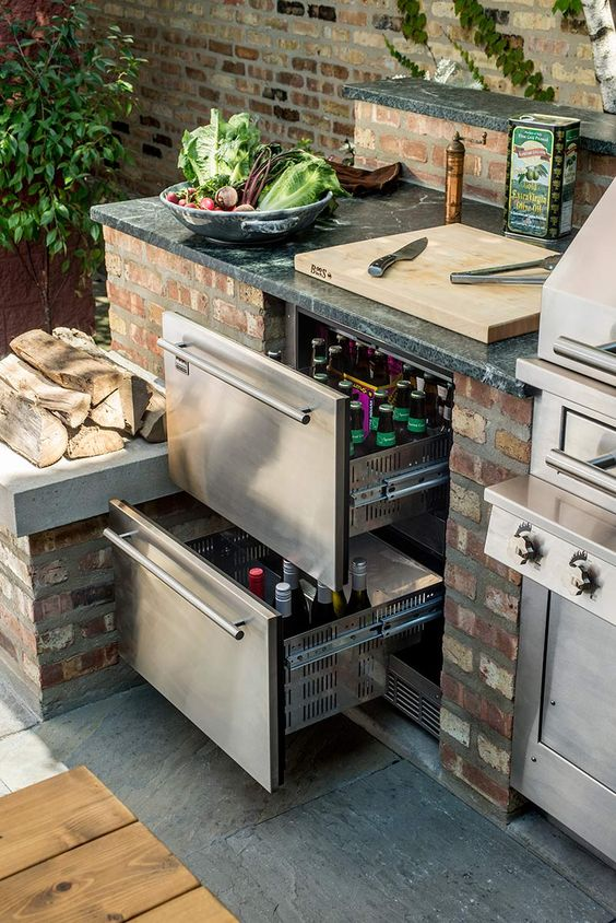 Refrigerated Drawers For Outdoor Kitchen