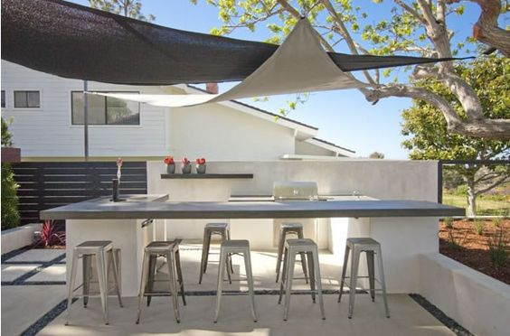 minimalist outdoor kitchen