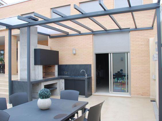 modern minimalist outdoor kitchen