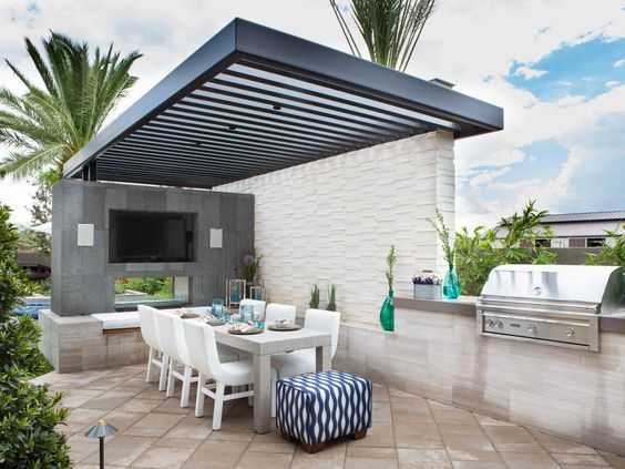 posh garden outdoor kitchen
