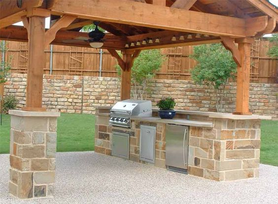covered patio outdoor kitchen