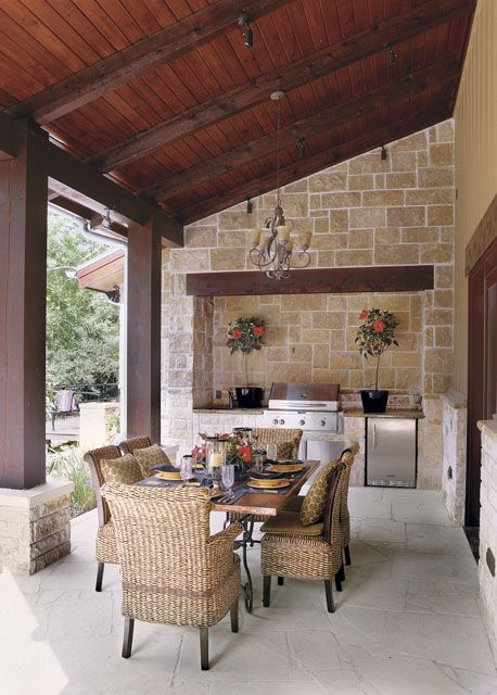 charming outdoor kitchen