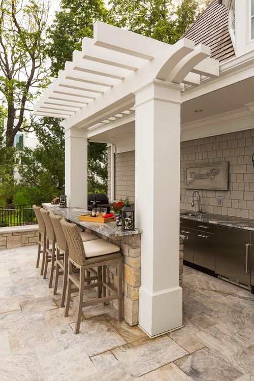 pergola bar outdoor kitchen