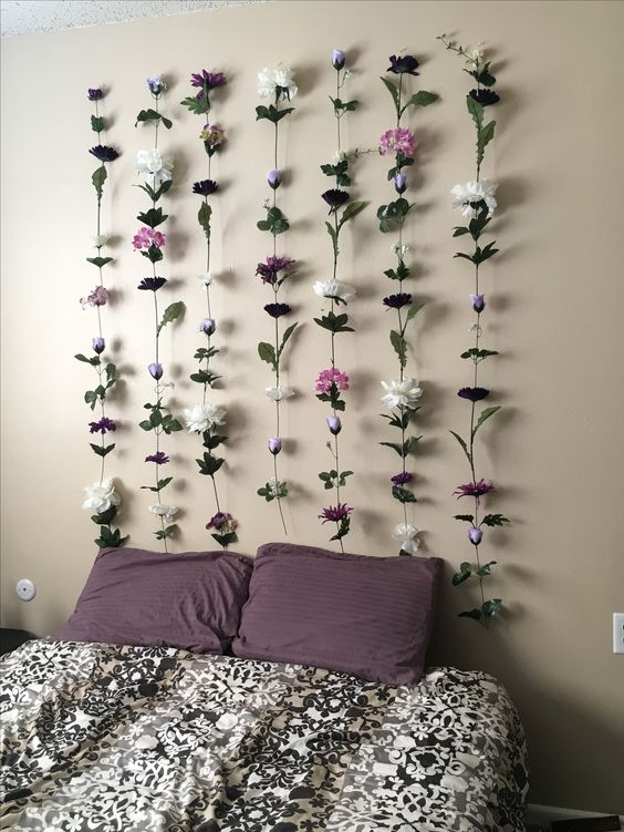 floral strings wall decor