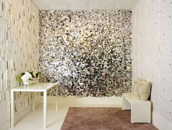 glittery wall