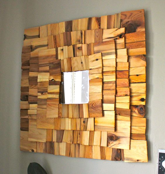 wood shingles wall accent