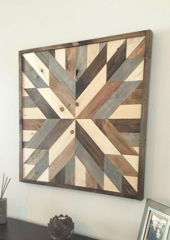 rustic wood quilt