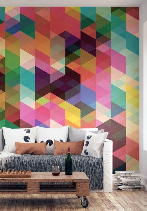 bright geometric wall
