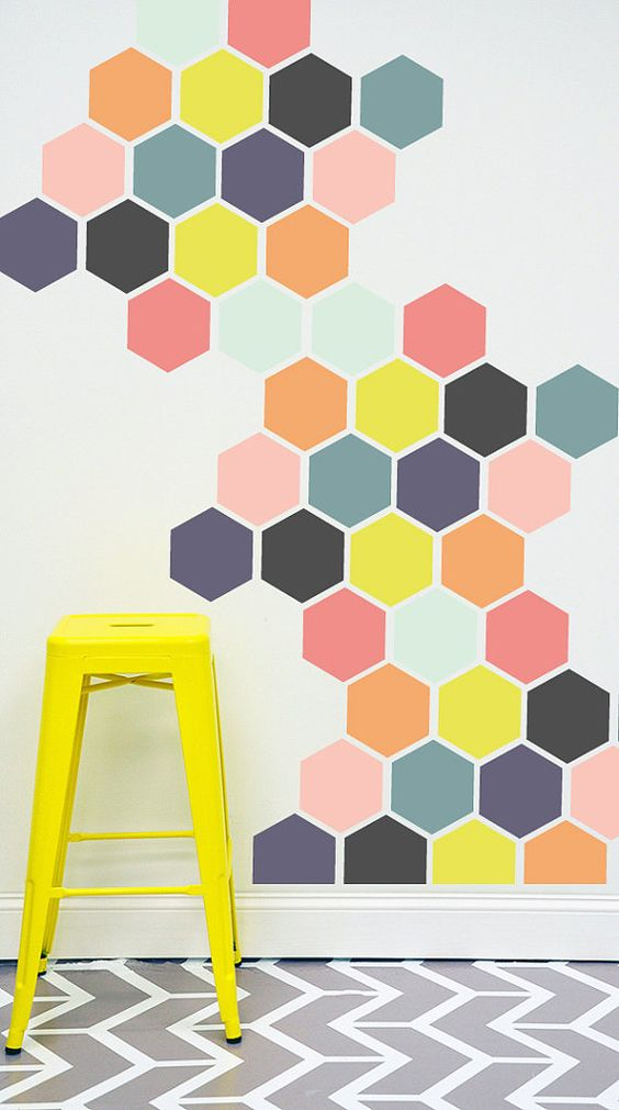 pastel honeycomb pattern