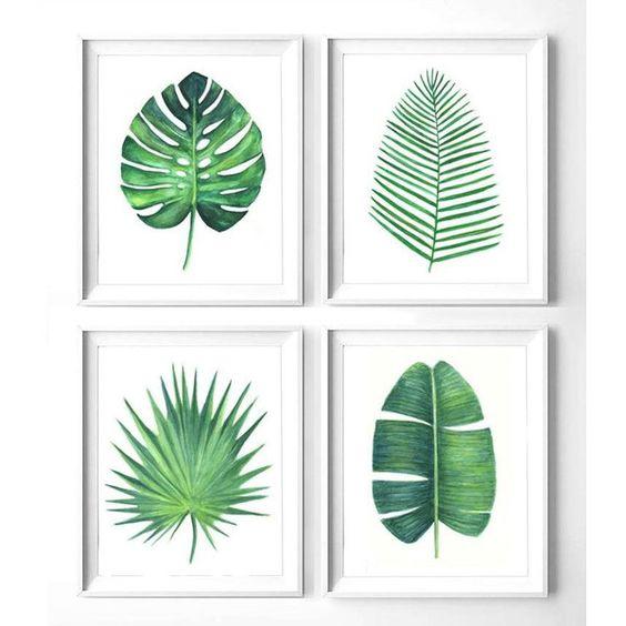 printed leaf frames