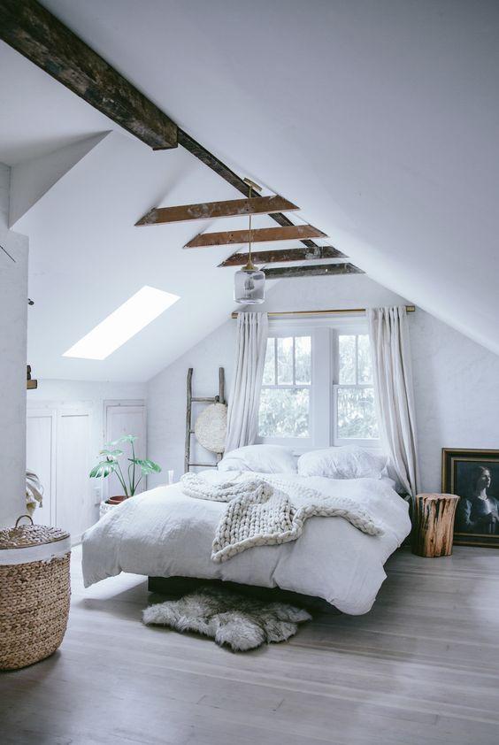 romantic farmhouse loft bedroom