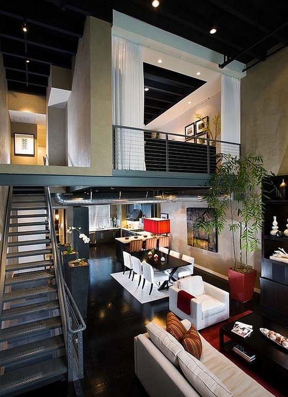 upscale apartment with loft bedroom