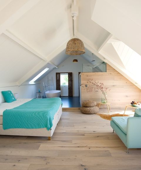 cool attic bedroom
