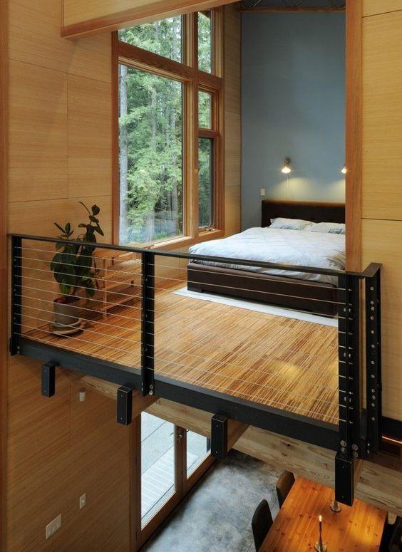 modern balcony bedroom