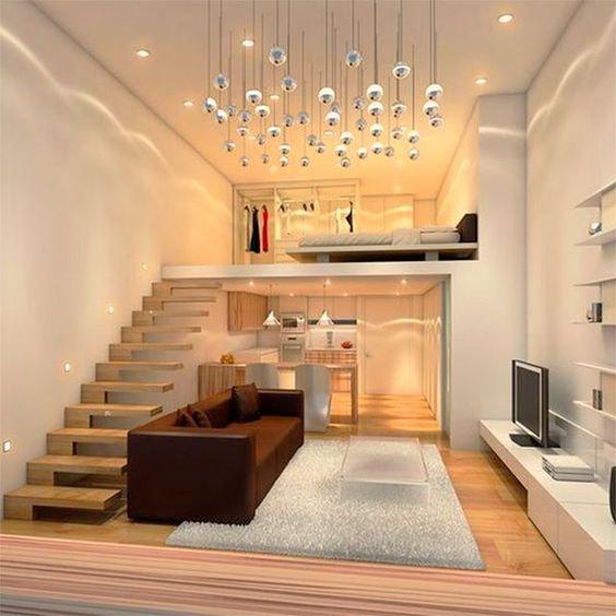luxury apartment with loft