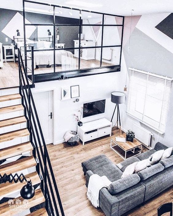 modern apartment with loft