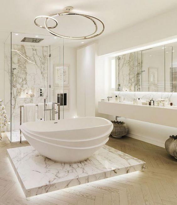 elegant white bathroom