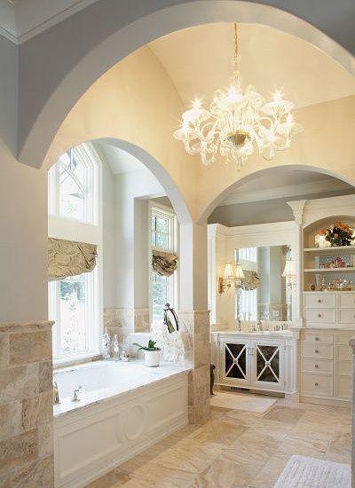 classic posh bathroom
