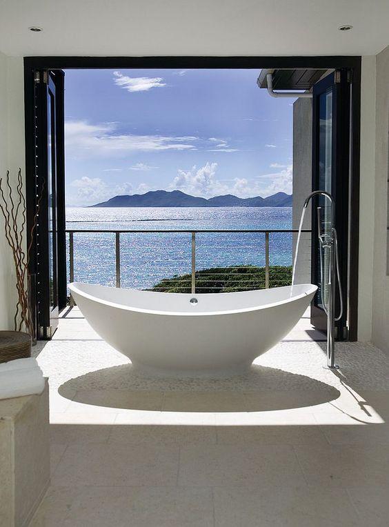 bathroom and balcony