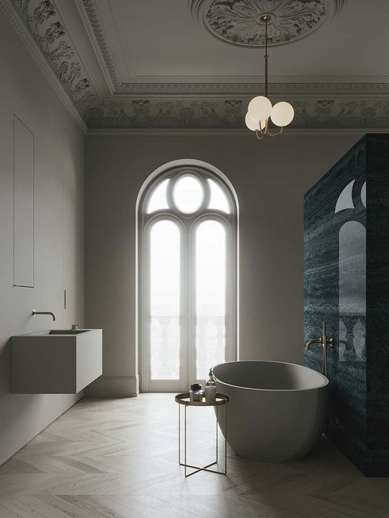 sophisticated modern bathroom