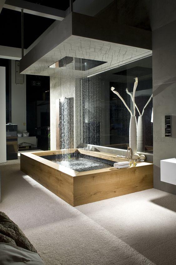 rain shower bathtub