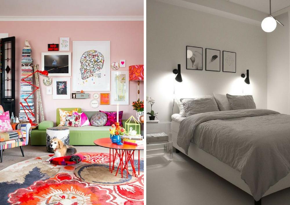 maximalist colors vs minimalist colors