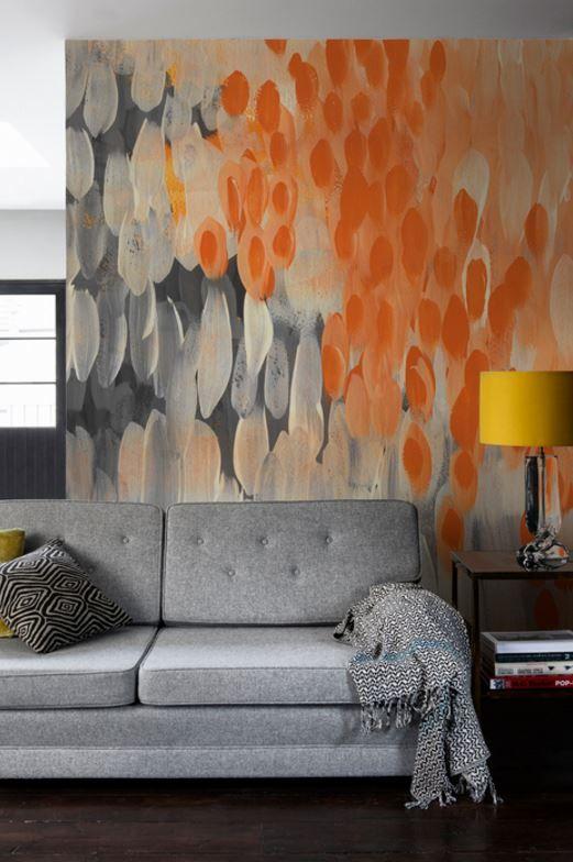 grey maximalist living room