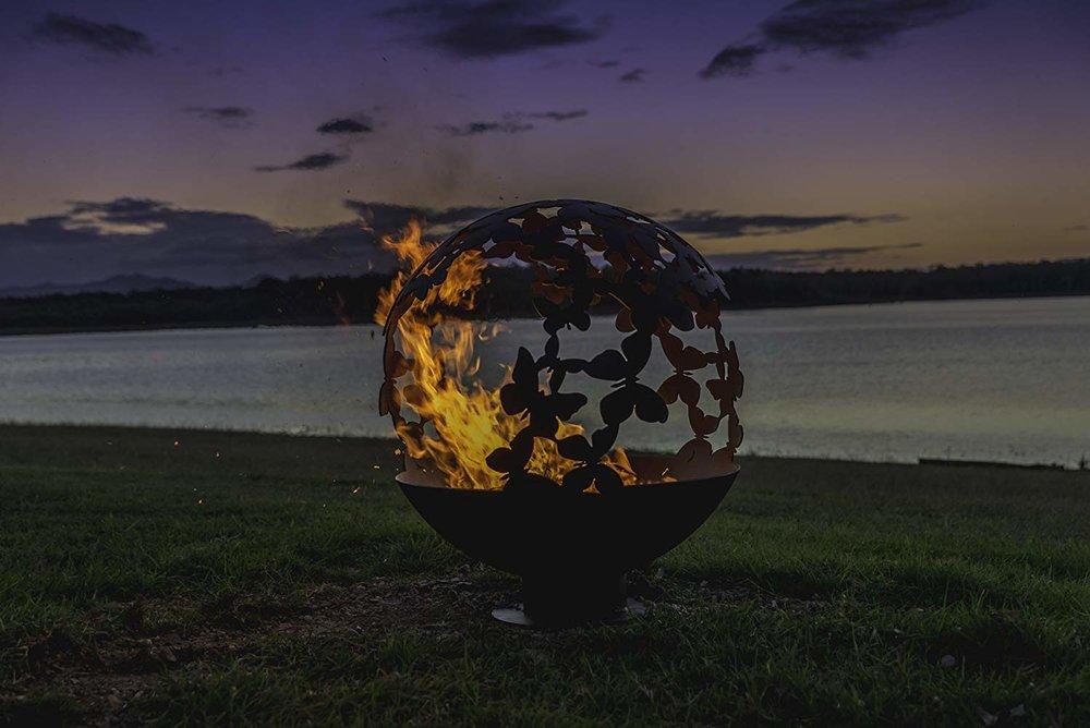 butterfly sphere fire pit