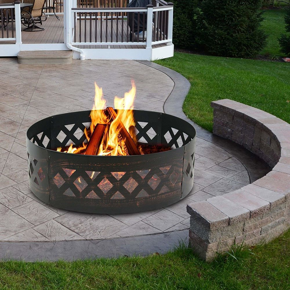 black metal campfire ring