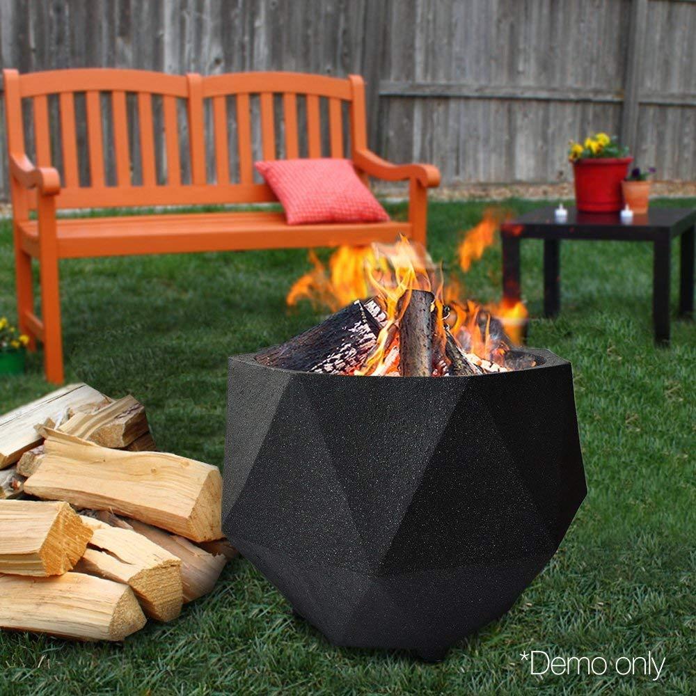 black octagon fire pit