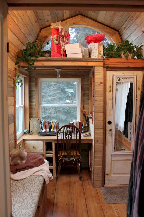 tiny office in tiny house