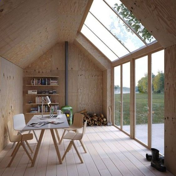 Scandinavian minimalist office