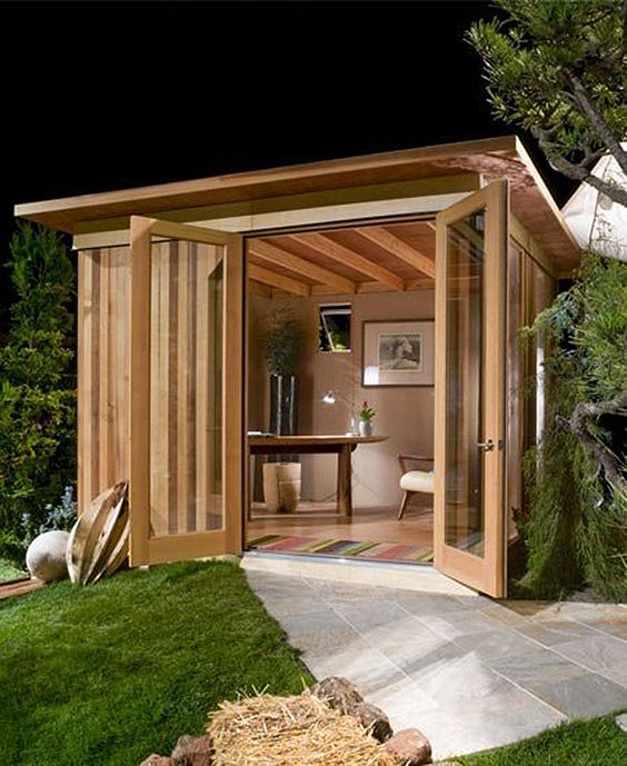 DIY backyard office