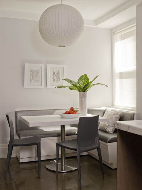 modern breakfast nook