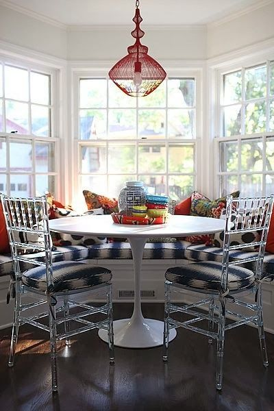 colourful breakfast nook