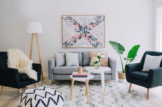 colourful Scandinavian room