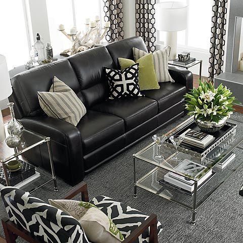 black luxurious family room