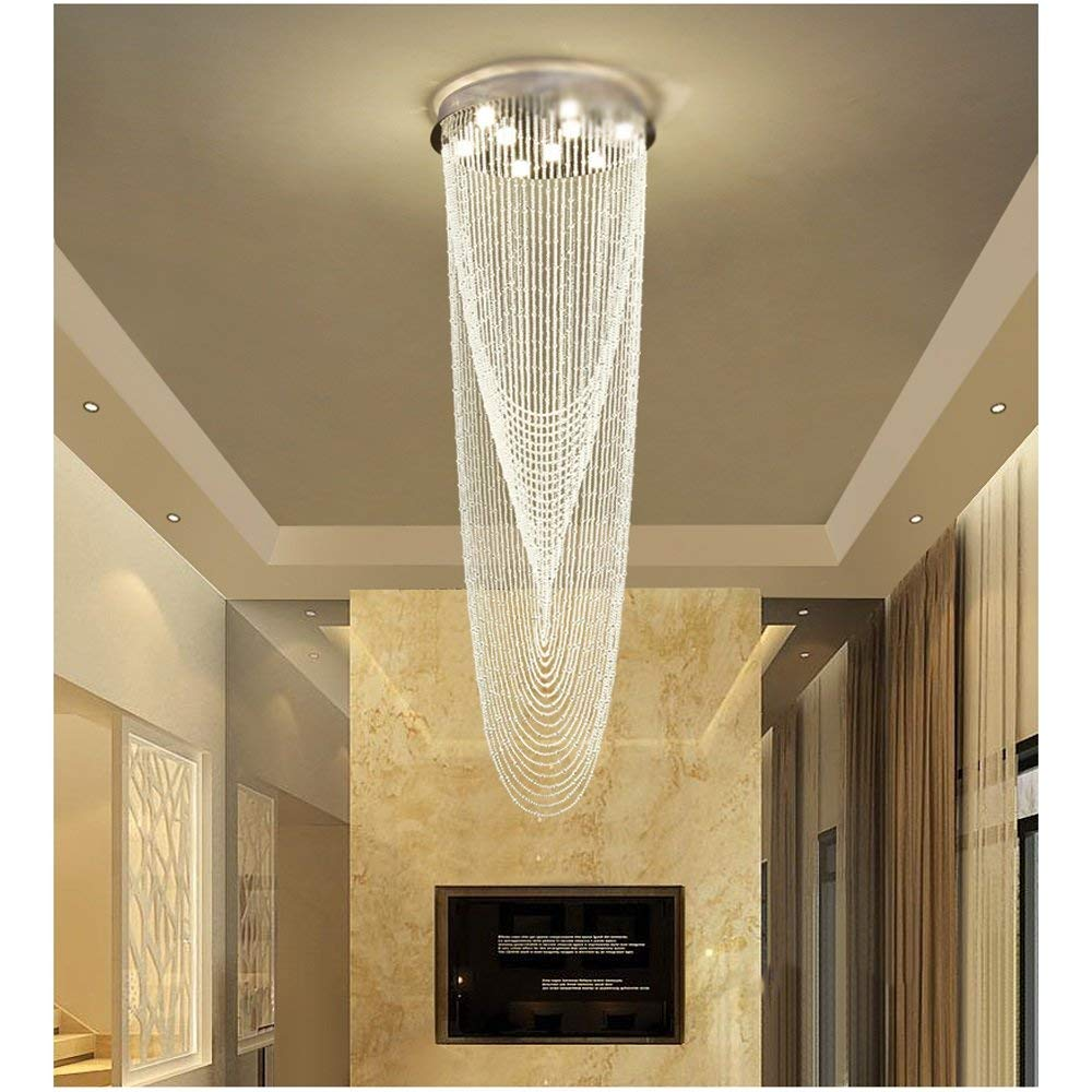 delicate cascading chandelier