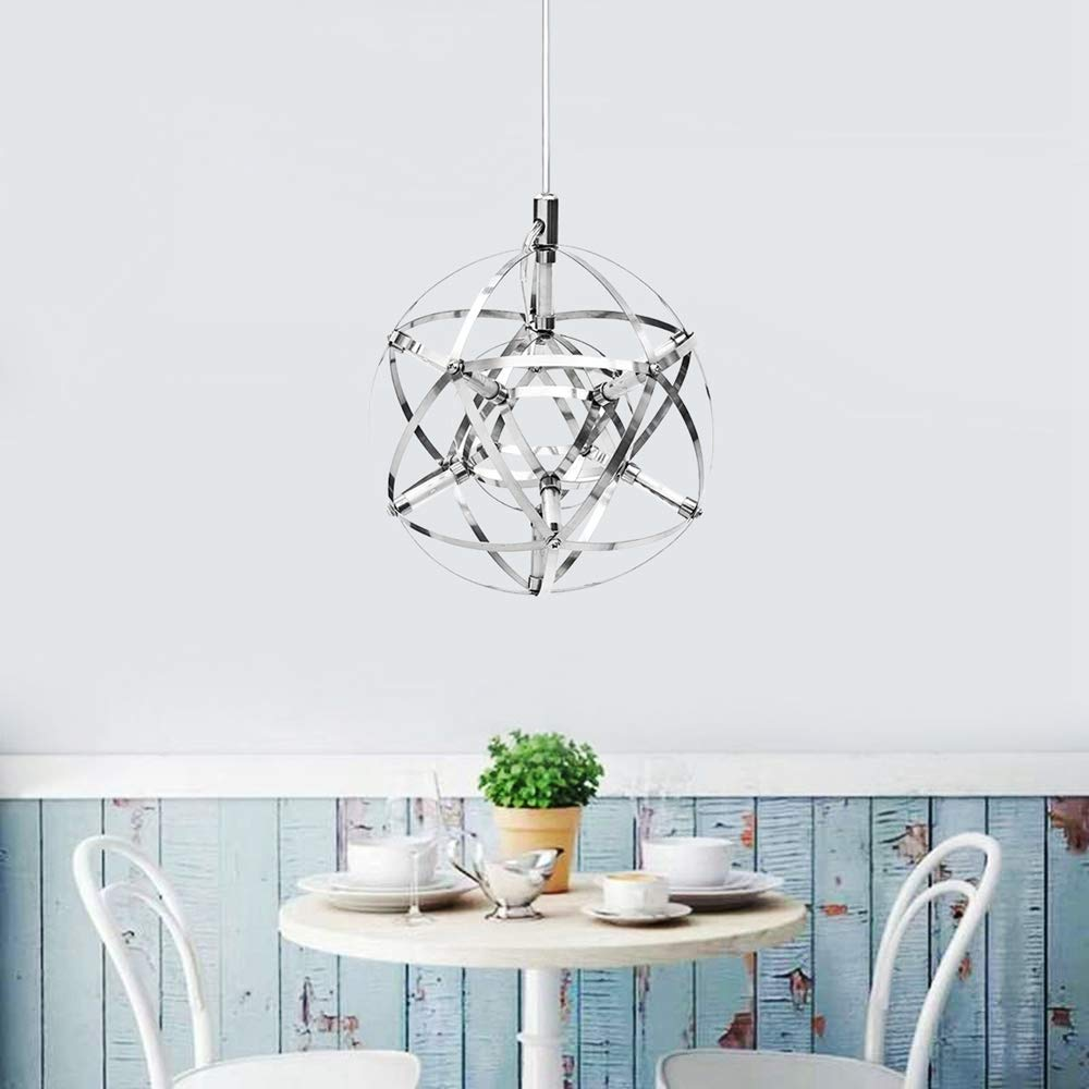 chic silver chandelier