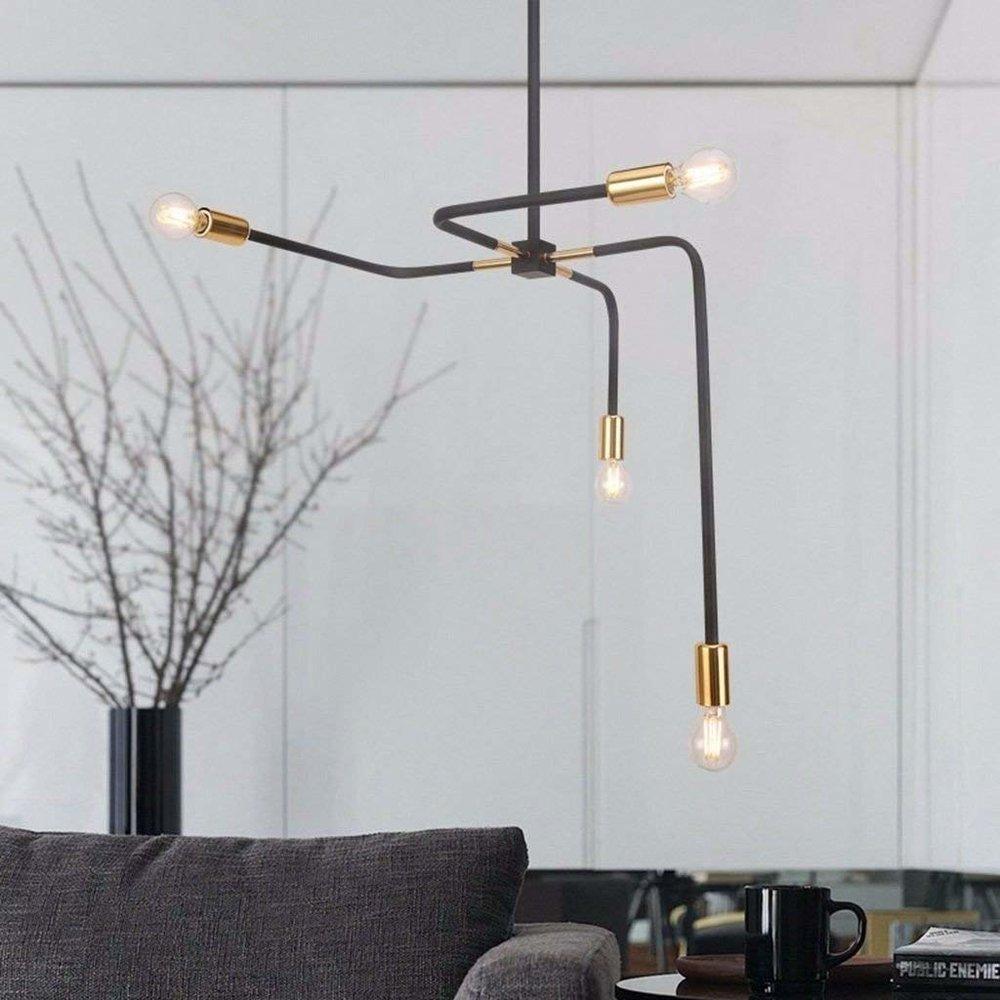 industrial tube chandelier