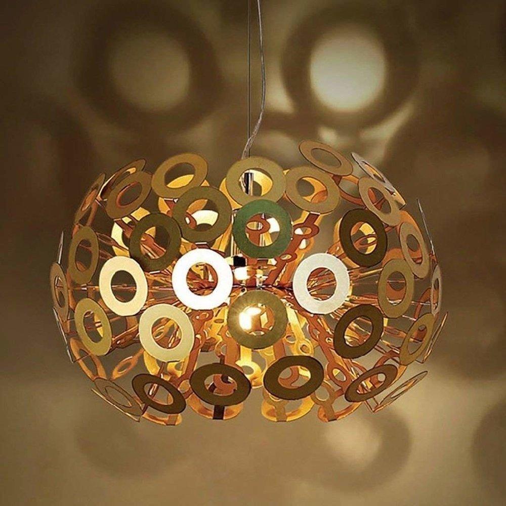 metallic ring chandelier