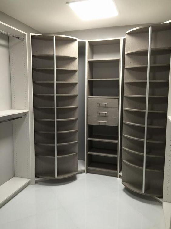 closet spinning shelves