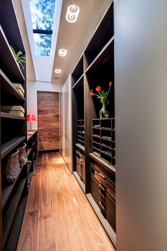 closet with skylights