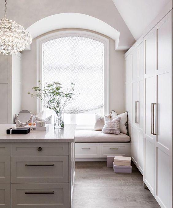 white charming closet