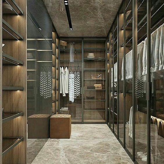 luxurious marbled closet